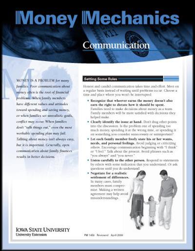 Communication -- Money Mechanics