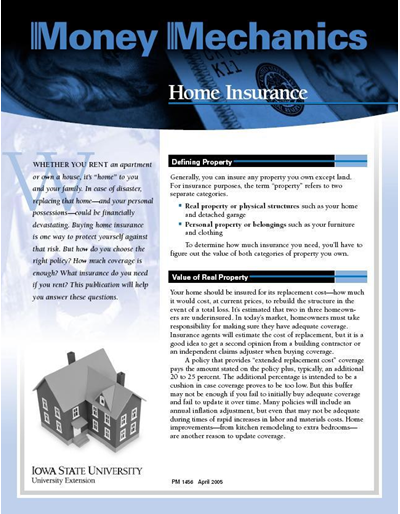 Home Insurance -- Money Mechanics
