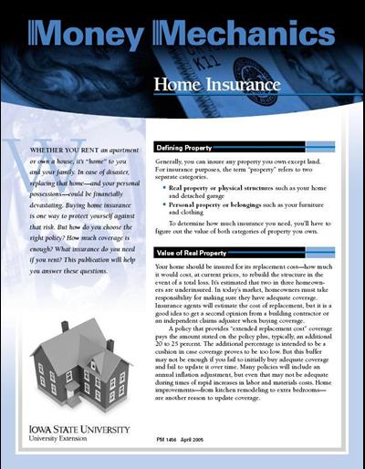 Home Insurance -- Money Mechanics