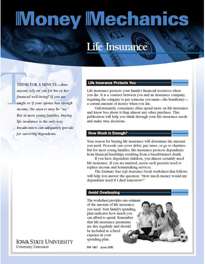 Life Insurance -- Money Mechanics