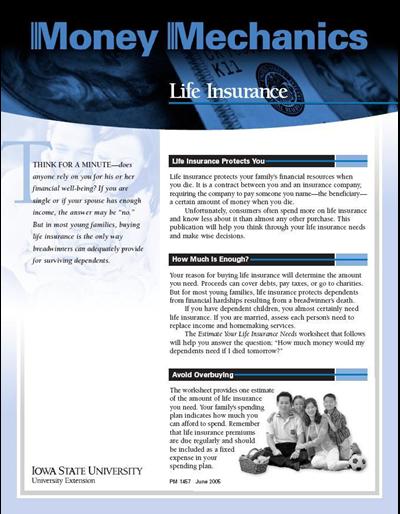 Life Insurance -- Money Mechanics