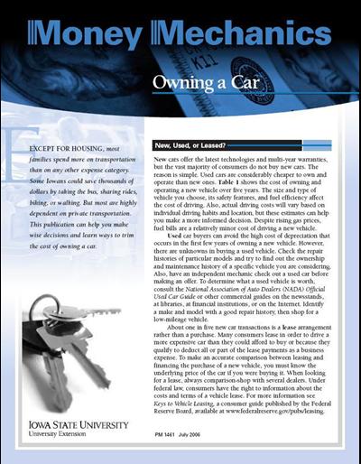 Owning a Car -- Money Mechanics