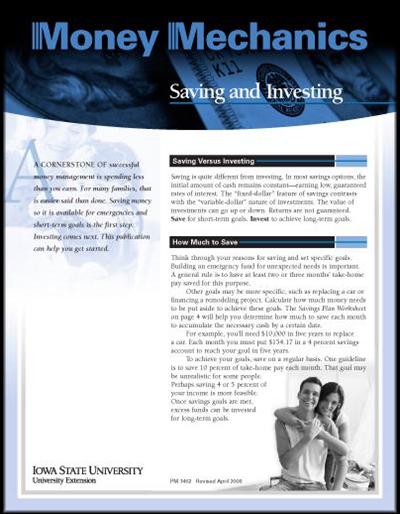 Saving and Investing -- Money Mechanics