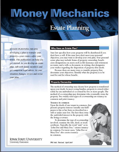 Estate Planning -- Money Mechanics