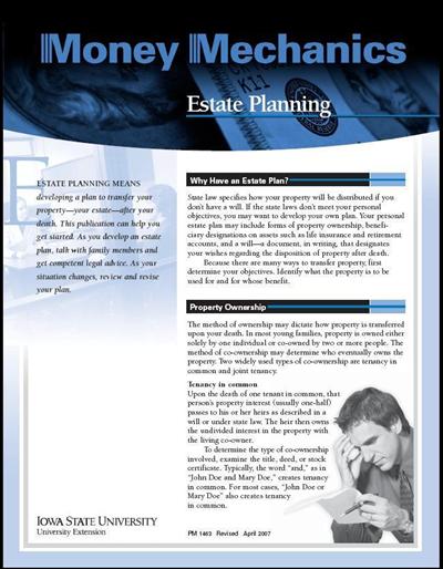 Estate Planning -- Money Mechanics