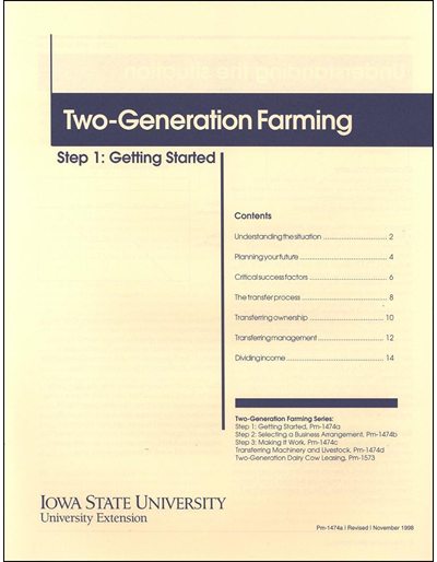 Step 1: Getting Started - Two-Generation Farming Series