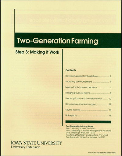 Step 3: Making It Work - Two-Generation Farming Series