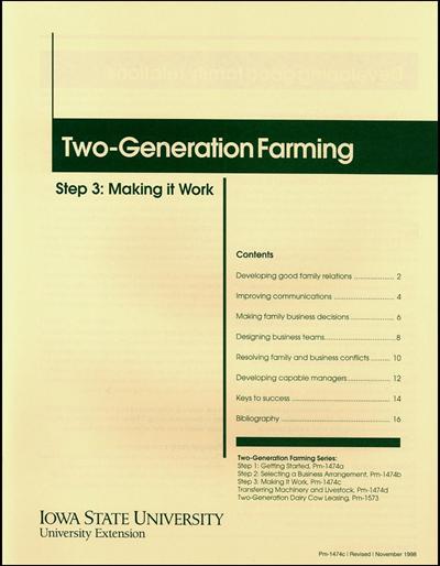 Step 3: Making It Work - Two-Generation Farming Series