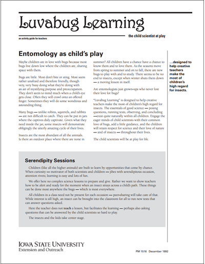 Luvabug Learning -- The Child Scientist at Play
