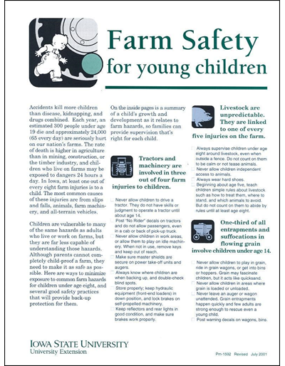 Farm Safety for Young Children