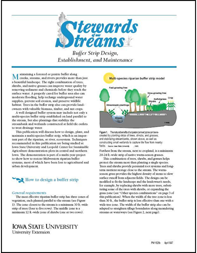 Buffer Strip Design, Establishment and Maintenance -- Stewards of Our Streams