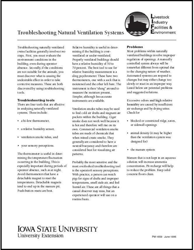 Troubleshooting Natural Ventilation Systems - Livestock Industry Facilities and Environment
