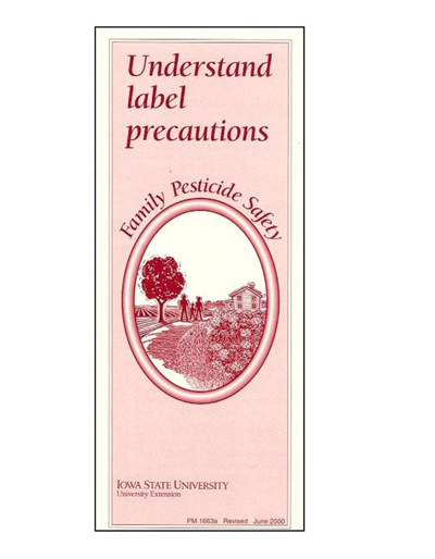 Understand Label Precautions -- Family Pesticide Safety