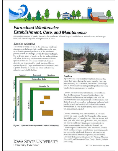 Farmstead Windbreaks: Establishment, Care, and Maintenance