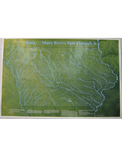 Iowa: Many Rivers Run Through It -- Poster