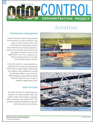 Aeration - Iowa Odor Control Demonstration Project