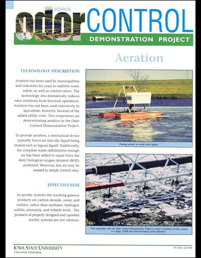 Aeration - Iowa Odor Control Demonstration Project