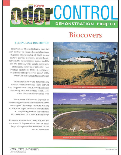 Biocovers - Iowa Odor Control Demonstration Project