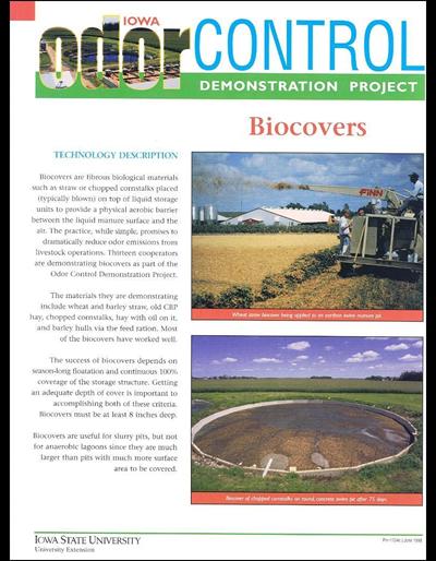 Biocovers - Iowa Odor Control Demonstration Project