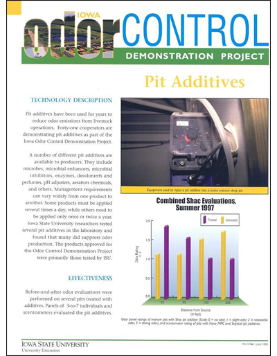 Pit Additives - Iowa Odor Control Demonstration Project