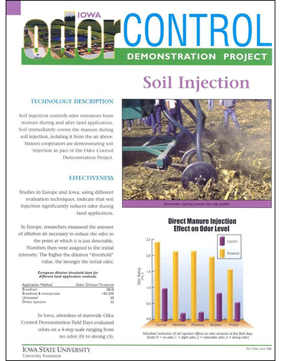 Soil Injection - Iowa Odor Control Demonstration Project