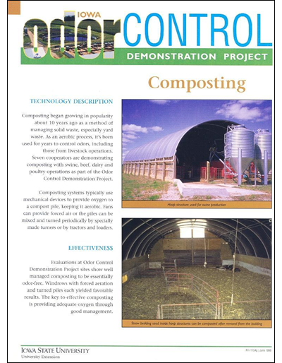 Composting - Iowa Odor Control Demonstration Project