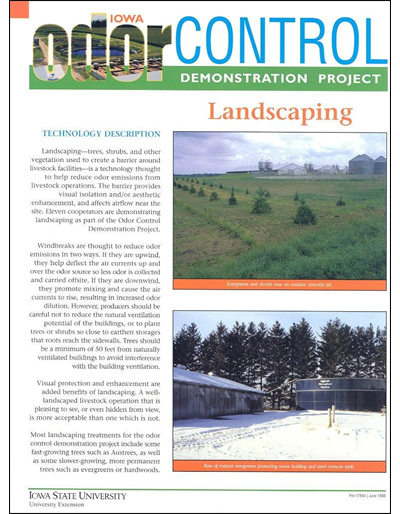 Landscaping - Iowa Odor Control Demonstration Project