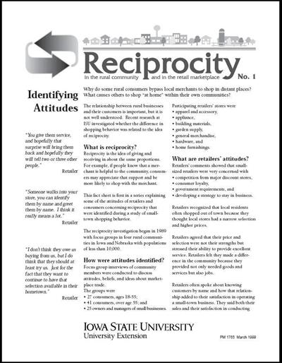 Reciprocity No. 1 - Identifying Attitudes