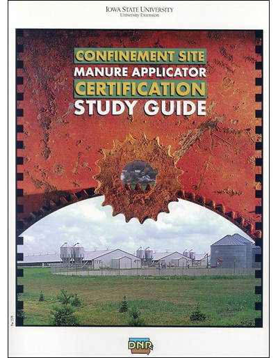 Confinement Site Manure Applicator Study Guide Notebook