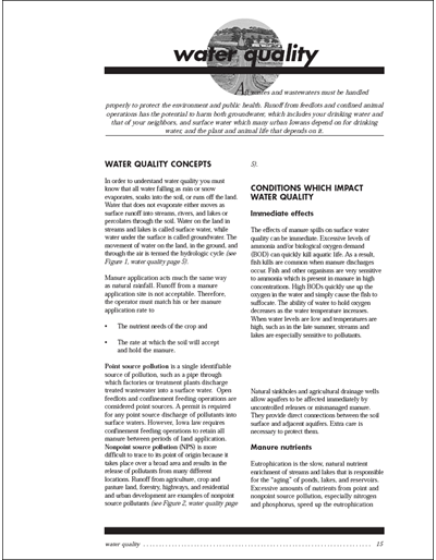 Confinement Site Manure Applicator Study Guide -- Chapter 2: Water Quality