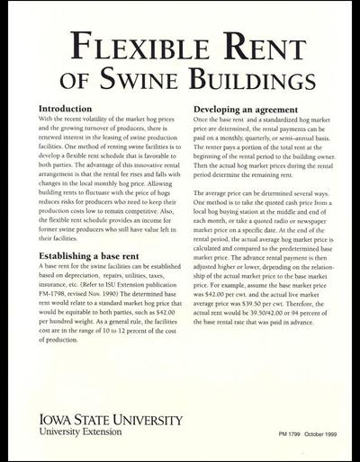 Flexible Rent of Swine Buildings