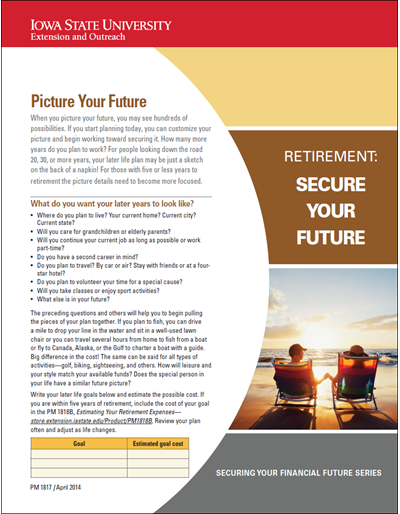 Picture Your Future -- Retirement: Secure Your Future