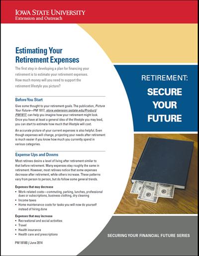 Estimating Your Retirement Expenses -- Retirement: Secure Your Future