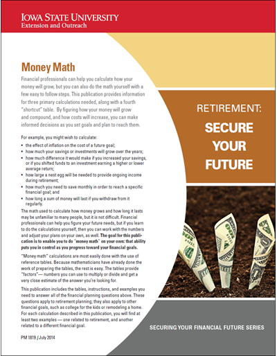 Money Math -- Retirement: Secure Your Future