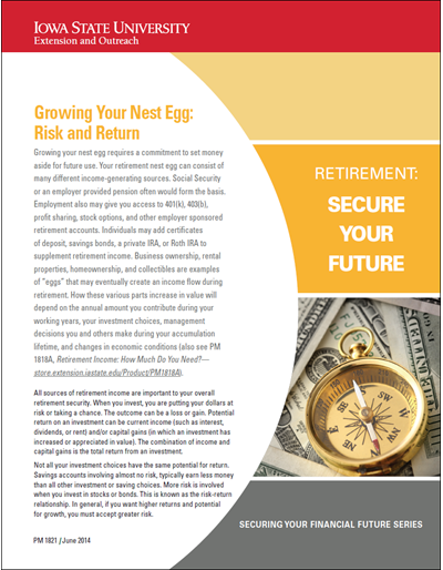 Growing Your Nest Egg: Risk and Return -- Retirement: Secure Your Future