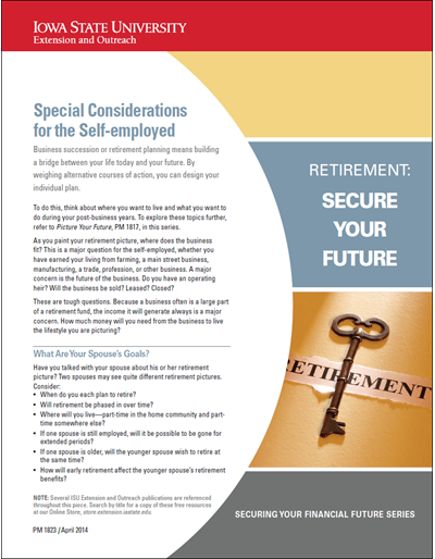 Special Considerations for the Self-employed -- Retirement: Secure Your Future