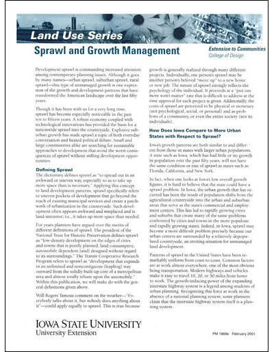 Sprawl and Growth Management -- Land Use Series