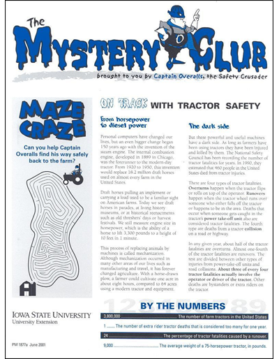 On Track with Tractor Safety -- The Mystery Club