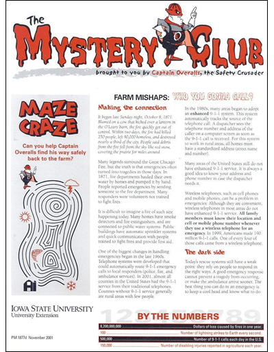 Farm Mishaps:  Who You Gonna Call? -- The Mystery Club