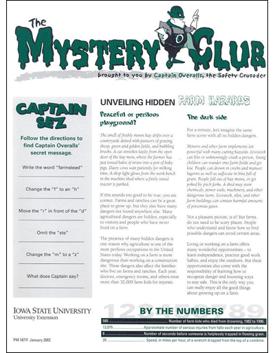 Unveiling Hidden Farm Hazards -- The Mystery Club