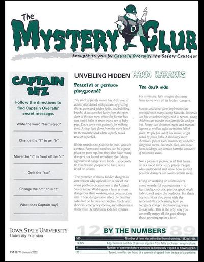 Unveiling Hidden Farm Hazards -- The Mystery Club