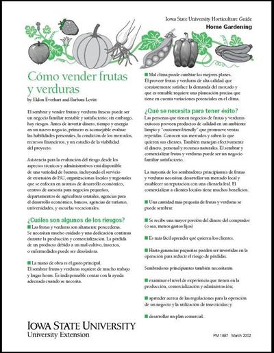 Cómo Vender las Frutas y Verduras