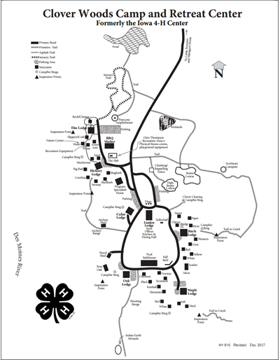 Clover Woods Camp and Retreat Center Map