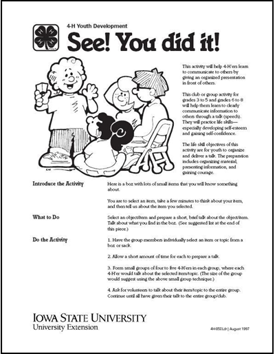 See!  You Did It! - 4-H Leader Communication