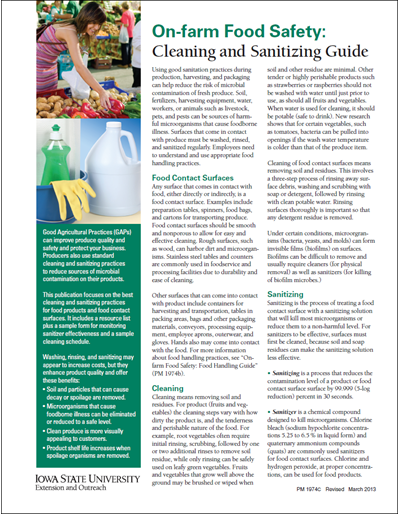 On-farm Food Safety: Cleaning and Sanitizing Guide