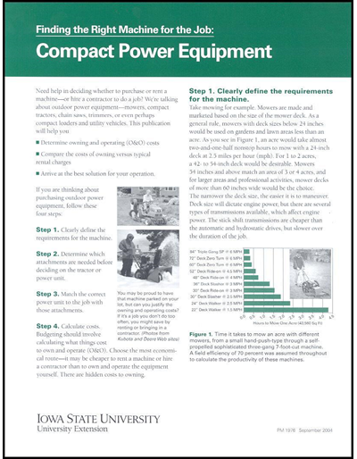Finding the Right Machine for the Job: Compact Power Equipment