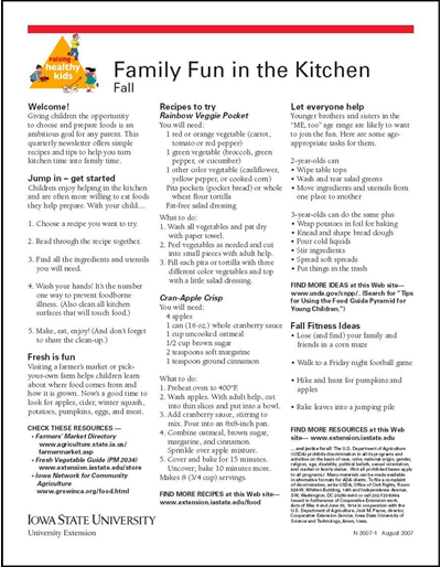 Family Fun In The Kitchen Fall Raising Healthy Kids