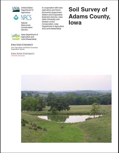 Adams county iowa soil survey digital version for Soil web survey