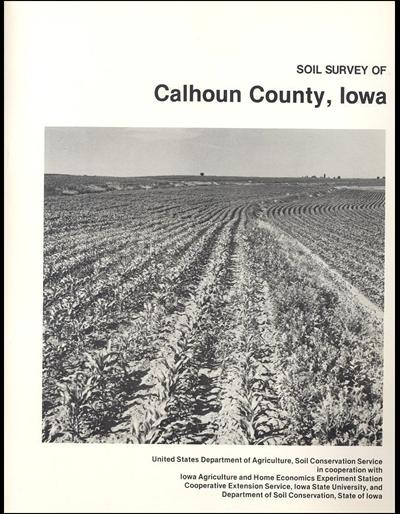 Calhoun county iowa soil survey digital version for Soil web survey