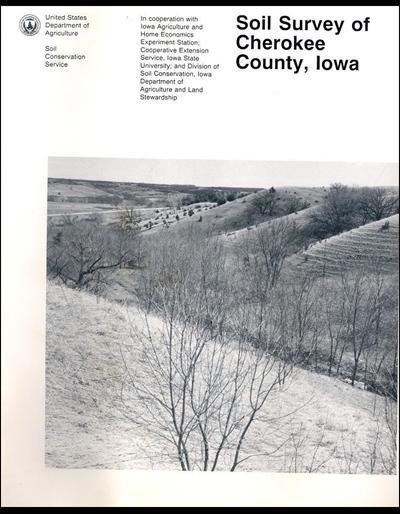 Cherokee county iowa soil survey digital version for Soil web survey